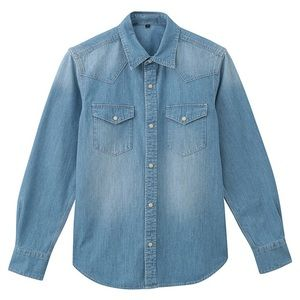 Muji Denim Dress Shirt